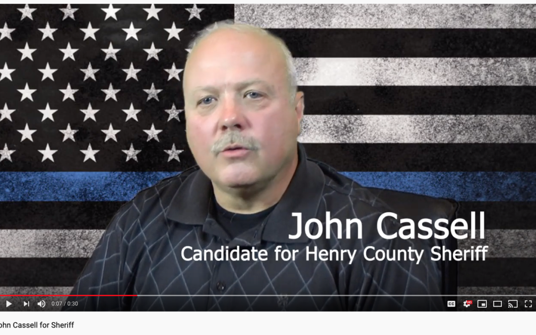 John Cassell for Sheriff. Ad #1